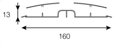 Kabelgoot - 65cm lengte - zwart/alu - Van geel GC-1