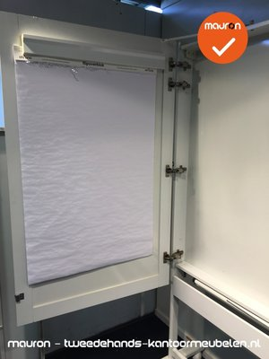 Whiteboard - 195x170cm - op standaard - verrijdbaar