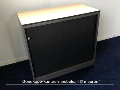 Roldeurkast - Ahrend - 74x80x45cm - antracietgrijs - Topblad naar keuze