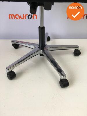 Bureaustoel - Ahrend 240 Centennial - nieuwe stoffering - gepolijst aluminium voetkruis
