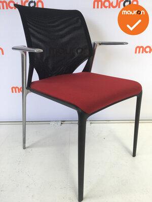 Vitra - MedaSlim - Zwart / Rood