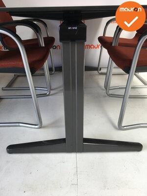 Ahrend vergadertafel - 180x80cm - Ahorn -  kleur poot naar keuze