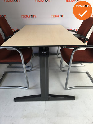 Ahrend vergadertafel - 180x90cm - Ahorn