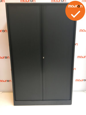 Roldeurkast - Ahrend - 195x120x45cm - Zwart - Refurbished