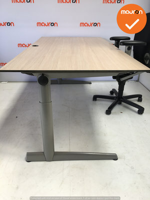 Ahrend bureau - 180x90 cm - Grijs Eiken - volkern -  500