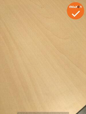 Ahrend bureau - 200x90cm - Ahorn - volkern - Essa - Kleur poot naar keuze