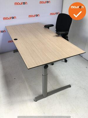 Ahrend bureau - 180x80 cm - Grijs Eiken - volkern - 500