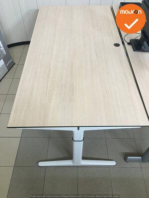 Ahrend bureau - 180x90 cm - Grijs Eiken - Mehes - Wit refurbished