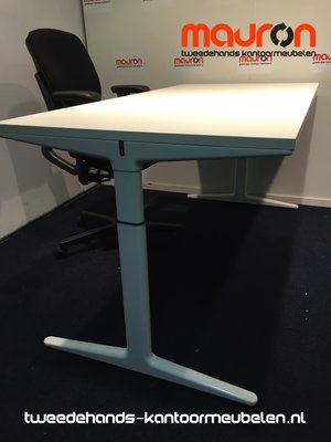 Ahrend bureau - 160x80cm - wit - melamine - mehes - refurbished