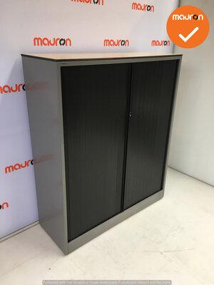 Roldeurkast - Ahrend - 144x120x45cm - zilvergrijs - topblad naar keuze