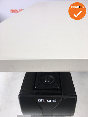 Ahrend bureau - 160x80cm - Wit - hout - Essa - Kleur poot naar keuze