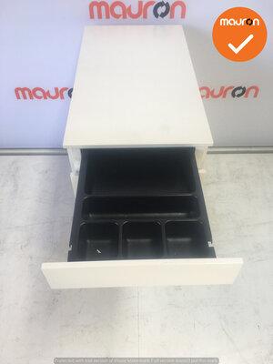Ladeblok - 57x32x56cm - Wit  - 4 laden - wit - topblad naar keuze