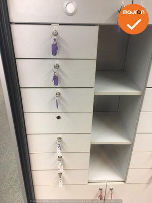 Lockerkast - Ahrend - 195x120x45cm - Zilvergrijs