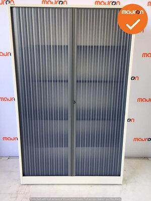Roldeurkast - Ahrend - 195x120x45cm - Wit - transparant