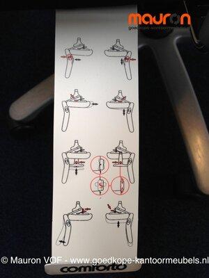 Haworth Comforto 77 - nieuwe stoffering - gepolijst aluminium voetkruis