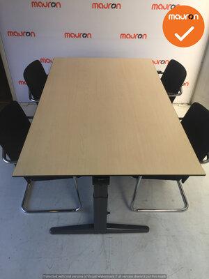 Ahrend vergadertafel - 200x100cm - Ahorn - Kleur poot naar keuze