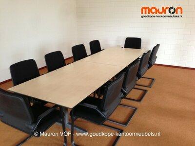 Conferentietafel - Ahrend 320x100 - Ahorn