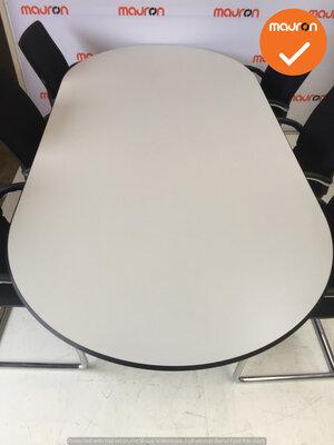 Ahrend vergadertafel - 240 x 120cm - ovaal - Wit - Trespa