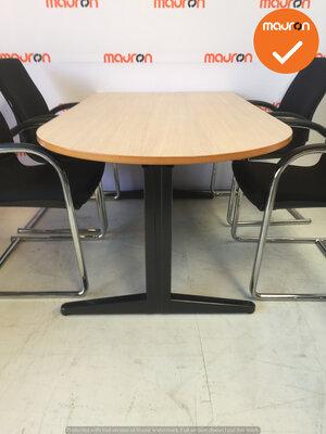 Ahrend vergadertafel - ovaal - 160x90 cm - Grijs Eiken - hout