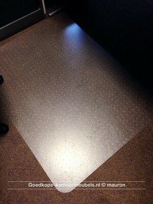 Bureaustoel vloerbeschermer - 120x90cm - voor op vloerbedekking