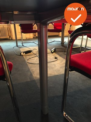 Ahrend Mehes vergadertafel - 340x260cm - halfrond - volkern - Ahorn