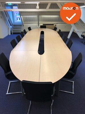 Ahrend 500 vergadertafel - 720x200cm - ovaal - volkern - Ahorn