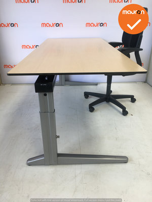 Ahrend Werkplek - Inclusief ladeblok en bureaustoel - 120x80 - Ahorn - In hoogte verstelbaar -  Zilvergrijs Essa
