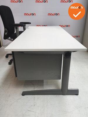 Ahrend Slinger Werkplek - Inclusief ladeblok en bureaustoel - 180x80 - Wit -  Zilvergrijs 500