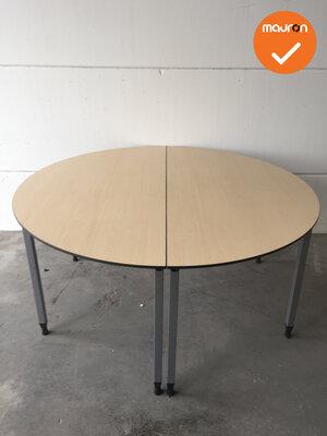 Ahrend vergadertafel - rond - 140cm - Ahorn