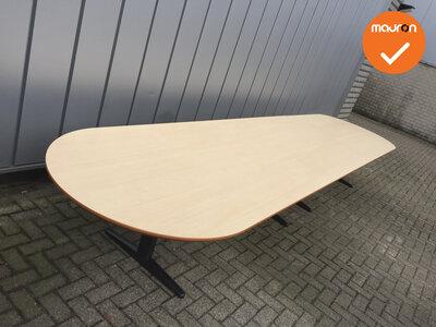 Ahrend vergadertafel - 530x120cm - ovaal - hout - Ahorn