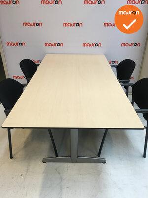 Ahrend 500 vergadertafel - rechthoekig - 180x113cm - Ahorn - Kleur poot naar keuze