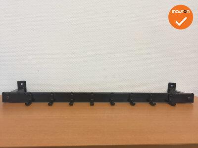 Wandkapstok - 126cm - Zwart - 8 Haken - Nieuw