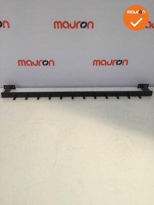 Wandkapstok - 126cm - Zwart - 12 Haken - Nieuw