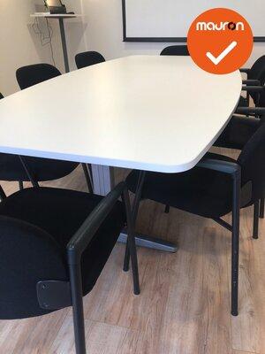 Ahrend vergadertafel - 240x120cm - Wit (nieuw blad) -