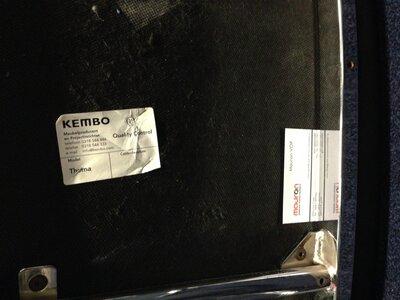 Kembo Thema - Stoel - Nieuw zwart kunstleer met chroom onderstel