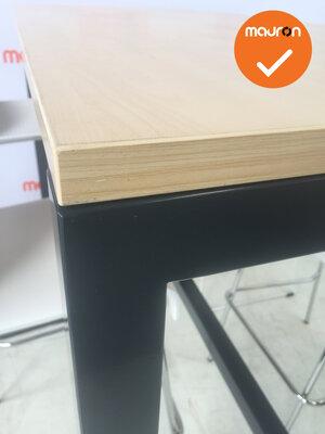 Bartafel - 160x80 - antraciet frame - grijs eiken blad
