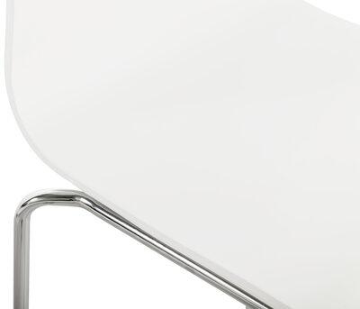 Barkruk - TIM - Wit met chrome onderstel - NIEUW