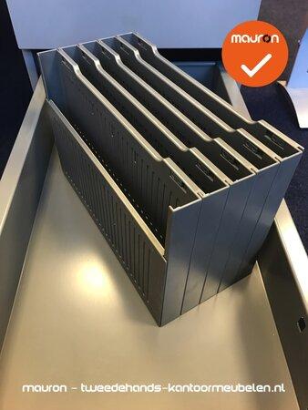 Ladeblok postbak verdeler - Ahrend - 5 delig - grijs