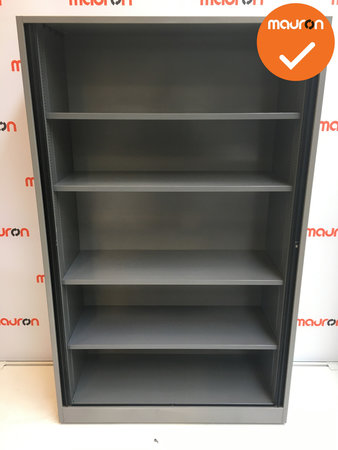 Roldeurkast - Ahrend - 195x120x45cm - Zilvergrijs