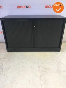 Roldeurkast - Ahrend - 74x120x45cm - Zwart - Met bladkleur naar keuze