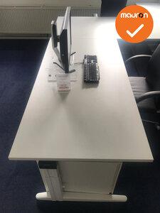 Ahrend hoekbureau -240x180 - Wit - Melamine - Rechts - Essa - Kleur poot naar keuze
