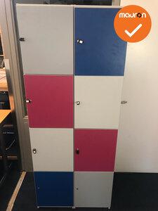 Deze lockerkast is geschikt voor 8 personen, door deze speelse kleuren is deze designkast geschikt voor: kantines, werkruimtes,