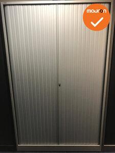Roldeurkast - Ahrend - 195x100x45cm - Zilvergrijs met zilvergrijs kunststof deuren