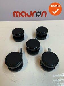Set bureaustoelwielen - Rohde & Grahl Xenium - zacht - voor harde vloeren - nieuw