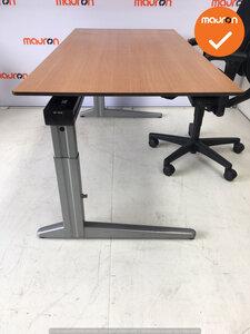 Ahrend Werkplek - Inclusief bureaustoel - 160x80 - Beuken - In hoogte verstelbaar -  Zilvergrijs Essa