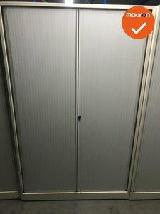 Ahrend roldeurkast 195x120x45 - wit met witte deuren