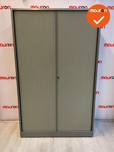 Ahrend roldeurkast - 195x120 - zilvergrijs met licht beige roldeuren
