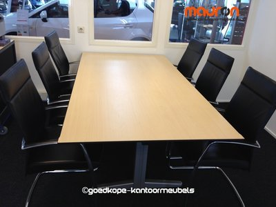 Ahrend directie vergadertafel - Ahorn - 220x113cm