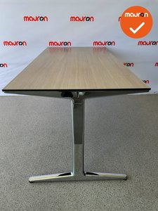 Ahrend Mehes design vergadertafel met chroom onderstel - 160x80cm - blad naar keuze
