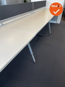 Herman Miller Sense duo workbench 160x80cm wit